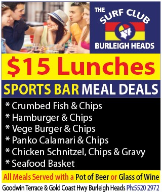 Burleigh Heads Surf Club_$15 Lunch Special (Sports Bar)